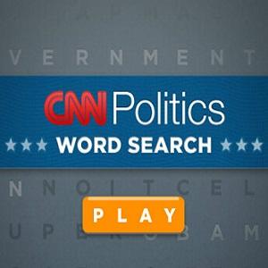 CNN's online CNN Politics Word Search game