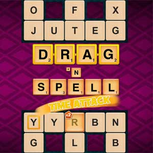 LA Times's online Drag 'n Spell: Time Attack game
