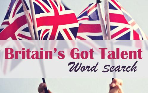 Britain's Got Talent Word Search