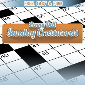 greenwich time's online Penny Dell Sunday Crossword game