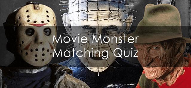 Movie Monster Matching Quiz