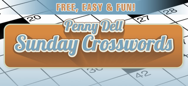 Harlow Star's free Penny Dell Sunday Crossword game
