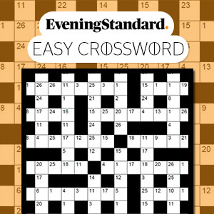 Evening Standard's online The Evening Standard's Easy Crossword game