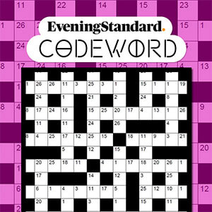 Evening Standard's online The Evening Standard's Codeword game
