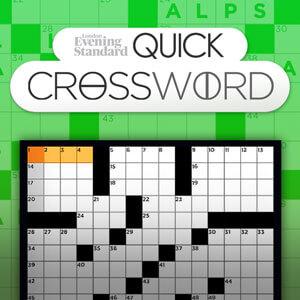 Evening Standard's online The Evening Standard's Quick Crossword game