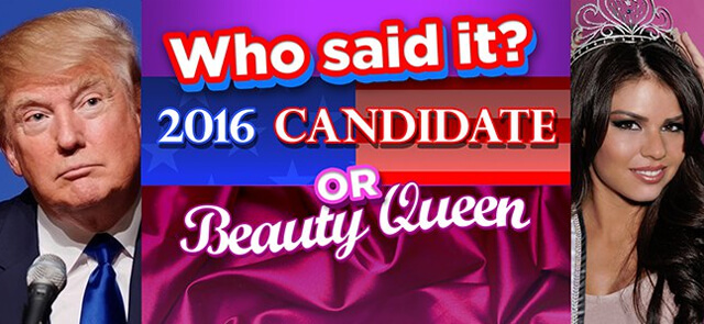 Baltimore Sun's free Who Said It: Candidates vs Beauty Queens game