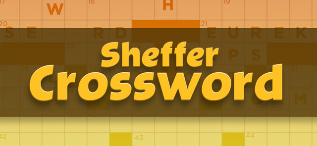 Parade's free Sheffer Crossword game