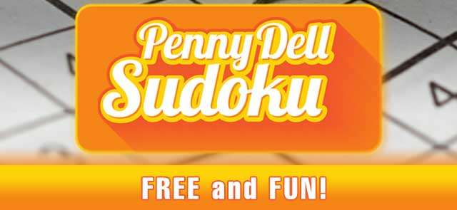 Brentwood Gazette's free Penny Dell Sudoku game