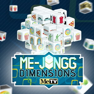 MeTV's online Me-jongg Dimensions game