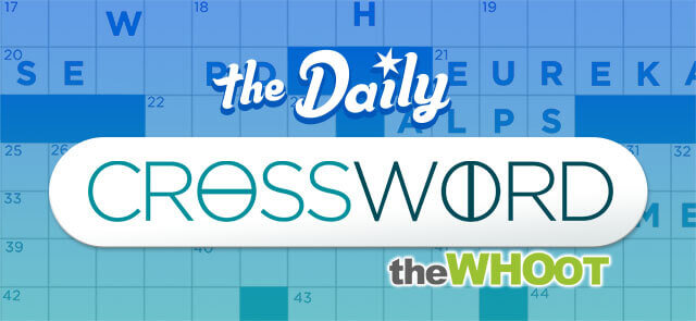 WHOoT's free The WHOot Daily Crossword game